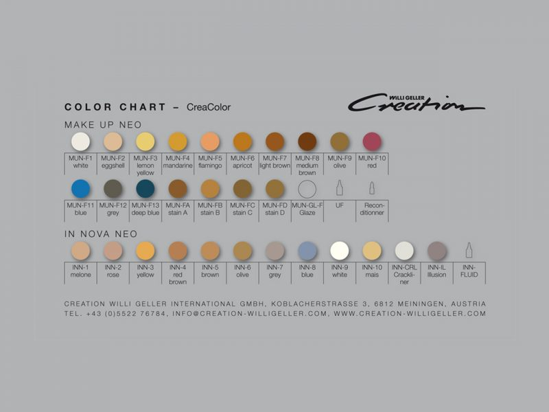 CreaColor stains and modifiers for all ceramics